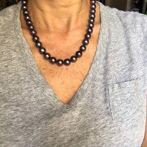 NWOT Gorgeous Genuine Black Tahitian Pearls